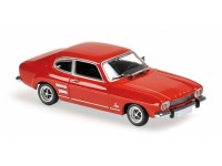 MODELLINO FORD CAPRI 1969 ROSSA IN METALLO MINICHAMPS