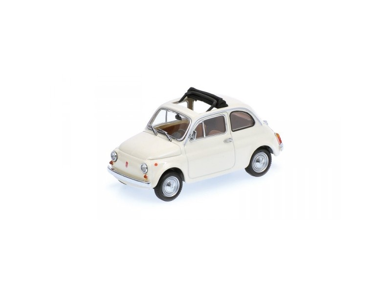 MODELLINO FIAT 500 CREAM 1965 IN METALLO MINICHAMPS