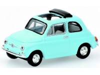 MODELLINO FIAT 500 LIGHT BLUE 1968 IN METALLO MINICHAMPS