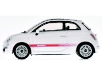 MODELLINO FIAT 500 ABARTH WHITE 2007 IN METALLO MINICHAMPS