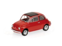 MODELLINO FIAT 500 RED 1965 IN METALLO MINICHAMPS