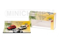 MODELLINI FIAT PANDA 30TH ANNIVERSARY DOUBLE SET CAR 1/43 IN METALLO MINICHAMPS