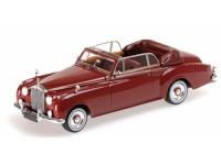 MODELLINO ROLLS ROYCE SILVER CLOUD II CABRIOLET 1960 RED IN METALLO MINICHAMPS