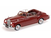 MODELLINO ROLLS ROYCE SILVER CLOUD II CABRIOLET 1960 RED IN METALLO MINICHAMPS