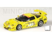 MODELLINO CHEVROLET CORVETTE C5-R GTS WINNER 12H SEBRING 2003 IN METALLO MINICHAMPS