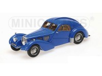 MODELLINO BUGATTI TYPE 57SC ATLANTIC 1938 BLUE IN RESINA MINICHAMPS