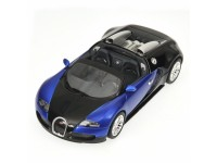 MODELLINO BUGATTI VEYRON GRAND SPORT 2010 BLUE & BLACK IN METALLO MINICHAMPS