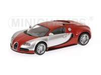 MODELLINO BUGATTI VEYRON EDITION CENTENAIRE RED & CHROME IN METALLO MINICHAMPS