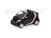 MODELLINO SMART CABRIOLET 2007 BLACK & SILVER IN METALLO MINICHAMPS