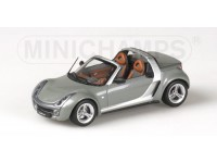 MODELLINO SMART ROADSTER 2003 CABRIO GREY METALLIC IN METALLO MINICHAMPS