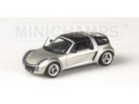 MODELLINO SMART ROADSTER COUPE' 2003 GREY METALLIC IN METALLO MINICHAMPS