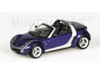 MODELLINO SMART ROADSTER CABRIO 2002 BLUE METALLIC IN METALLO MINICHAMPS