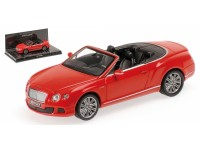MODELLINO BENTLEY CONTINENTAL GT SPEED CABRIO ST.JAMES RED 2012 IN METALLO MINICHAMPS