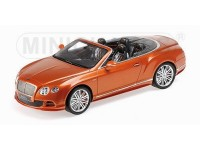 MODELLINO BENTLEY CONTINENTAL GT SPEED CONVERTIBLE 2015 ORANGE IN RESINA MINICHAMPS