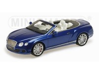 MODELLINO BENTLEY CONTINENTAL GT SPEED CONVERTIBLE 2013 BLUE IN RESINA MINICHAMPS
