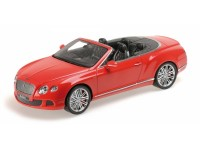 MODELLINO BENTLEY CONTINENTAL GT SPEED CONVERTIBLE 2013 RED IN RESINA MINICHAMPS
