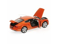 MODELLINO BENTLEY CONTINENTAL GT 2011 ORANGE METALLIC IN METALLO MINICHAMPS