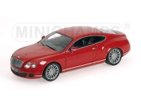 MODELLINO BENTLEY CONTINENTAL GT 2008 RED IN METALLO MINICHAMPS