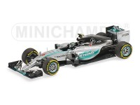 MODELLINO MERCEDES AMG W06 HYBRID NICO ROSBERG USA GP 2015 IN METALLO MINICHAMPS