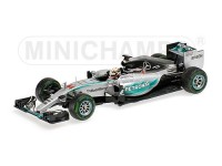 MODELLINO MERCEDES AMG W06 HYBRID LEWIS HAMILTON WINNER USA GP 2015 IN METALLO MINICHAMPS