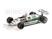 MODELLINO WILLIAMS FORD FW07B ALAN JONES W. C. FORMULA 1 1980 IN RESINA MINICHAMPS