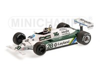 MODELLINO WILLIAMS FORD FW07B CARLOS REUTEMANN 1980 IN RESINA MINICHAMPS