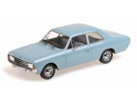 MODELLINO OPEL REKORD C SALOON 1966 LIGHT BLUE IN RESINA MINICHAMPS