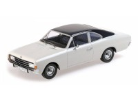 MODELLINO OPEL REKORD C COUPE' 1966 WHITE & BLUE IN RESINA MINICHAMPS