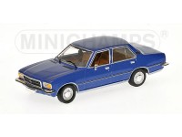 MODELLINO OPEL REKORD D 1975 BLUE METALLIC IN METALLO MINICHAMPS