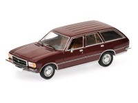 MODELLINO OPEL REKORD D CARAVAN 1975 RED IN METALLO MINICHAMPS