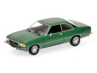 MODELLINO OPEL REKORD D COUPE' 1975 GREEN METALLIC IN METALLO MINICHAMPS