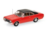 MODELLINO OPEL REKORD C COUPE' 1966 RED IN METALLO MINICHAMPS