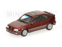 MODELLINO OPEL KADETT GSI 1989 RED METALLIC IN METALLO MINICHAMPS
