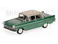 MODELLINO OPEL KAPITAN 1959 GREEN & GREY IN METALLO MINICHAMPS