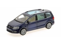 MODELLINO VOLKSWAGEN SHARAN 2010 BLUE METALLIC IN METALLO MINICHAMPS