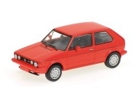 MODELLINO VOLKSWAGEN GOLF GTI PIRELLI 1983 RED IN METALLO MINICHAMPS