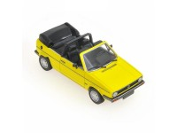 MODELLINO VOLKSWAGEN GOLF CABRIOLET 1980 YELLOW IN METALLO MINICHAMPS