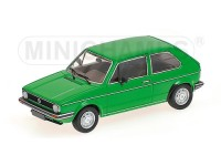 MODELLINO VOLKSWAGEN GOLF 1980 GREEN IN METALLO MINICHAMPS