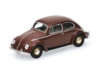 MODELLINO VOLKSWAGEN 1200 BROWN 1953 IN METALLO MINICHAMPS