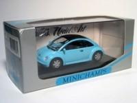 MODELLINO VOLKSWAGEN NEW BEETLE CONCEPT CAR 1994 BLUE IN METALLO MINICHAMPS