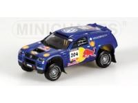 MODELLINO VOLKSWAGEN RACE TOUAREG PONS PARIGI-DAKAR 2004 IN METALLO MINICHAMPS