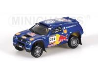 MODELLINO VOLKSWAGEN RACE TOUAREG SABY PARIGI-DAKAR 2004 IN METALLO MINICHAMPS