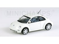 MODELLINO VOLKSWAGEN NEW BEETLE 1998 WHITE IN METALLO MINICHAMPS