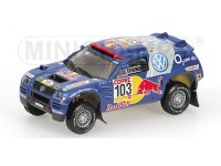 MODELLINO VOLKSWAGEN RACE TOUAREG SABY WINNERS RALLY POR LAS PAMPAS 2005 IN METALLO MINICHAMPS