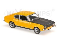 MODELLINO FORD CAPRI RS 1969 YELLOW & BLACK IN METALLO MINICHAMPS