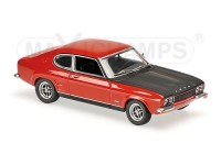 MODELLINO FORD CAPRI RS 1969 RED & BLACK IN METALLO MINICHAMPS