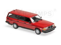 MODELLINO VOLVO 240 GL BREAK 1986 RED IN METALLO MINICHAMPS IN METALLO MINICHAMPS