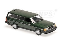 MODELLINO VOLVO 240 GL BREAK 1986 DARK GREEN IN METALLO MINICHAMPS