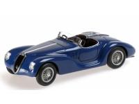 MODELLINO ALFA ROMEO 6C 2500 SS CORSA SPIDER 1939 BLUE IN RESINA MINICHAMPS