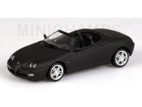 MODELLINO ALFA ROMEO SPIDER MATT BLACK IN METALLO MINICHAMPS